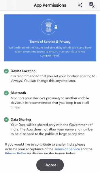 Aarogyasetu App Tracker
