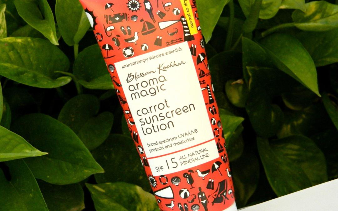 Aroma Magic Carrot Sunscreen Lotion SPF 15 Review