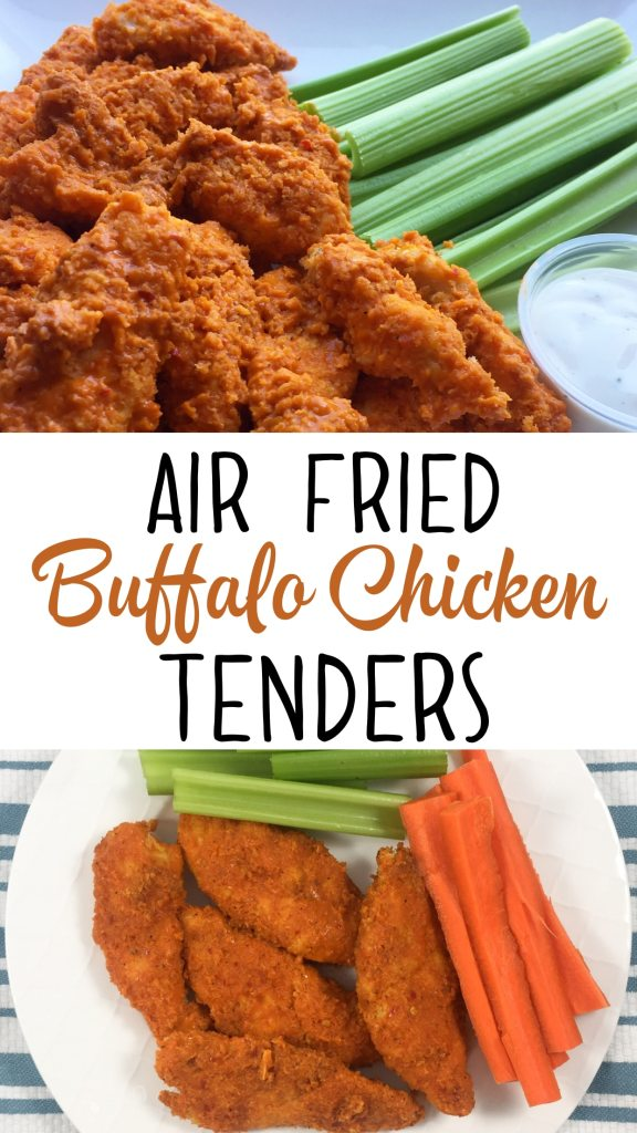 Air fried buffalo chicken strips healthy comfort food beauty and a healthy buffalo chicken recipe for your air fryer its quick easy and so forumfinder Image collections