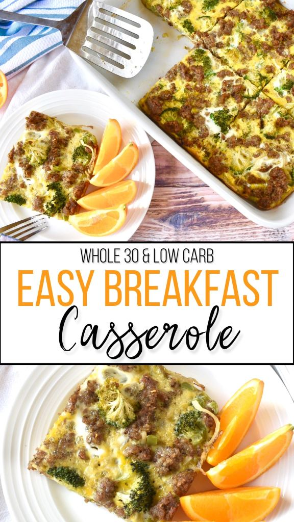 A Whole30 compliant and keto breakfast casserole that serves as a quick and easy make ahead meal prep option! #whole30recipes #breakfast #keto #ketobreakfast #paleo