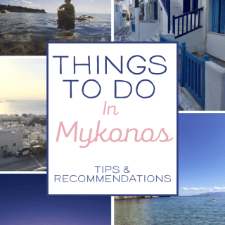 Things to do in Mykonos Greece! From the restaurants to the beaches to the windmills and Little Venice, Mykonos is more than just a party town! Here is what I packed into my 4 day stay! #mykonos #greece