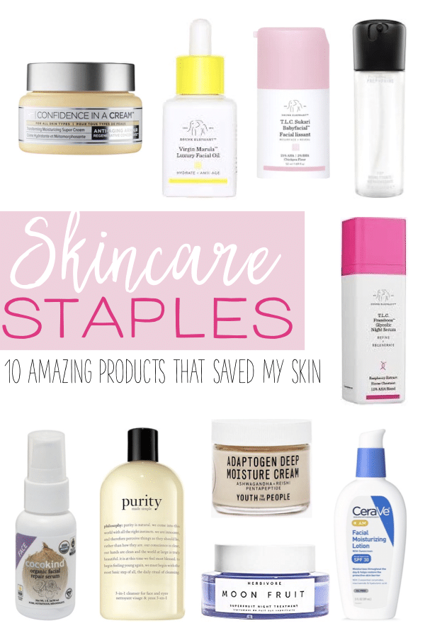 The top products I love for clear and glowing skin! After suffering through cystic acne and taking Accutane, I developed a new skincare routine to help bring my skin back to life. These products have truly made a difference and saved my skin! #skincare