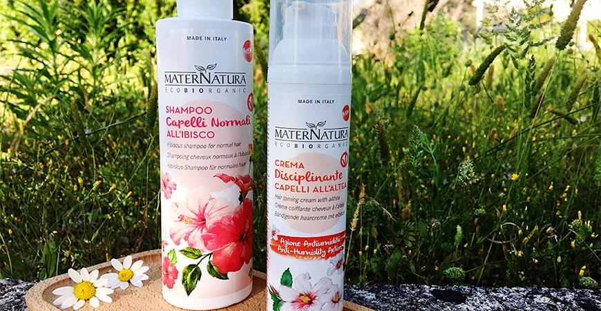 Trattamento top per capelli sani: Recensione shampoo capelli normali e crema disciplinante azione antiumidità MATERNATURA 💆🏽♀️🍃