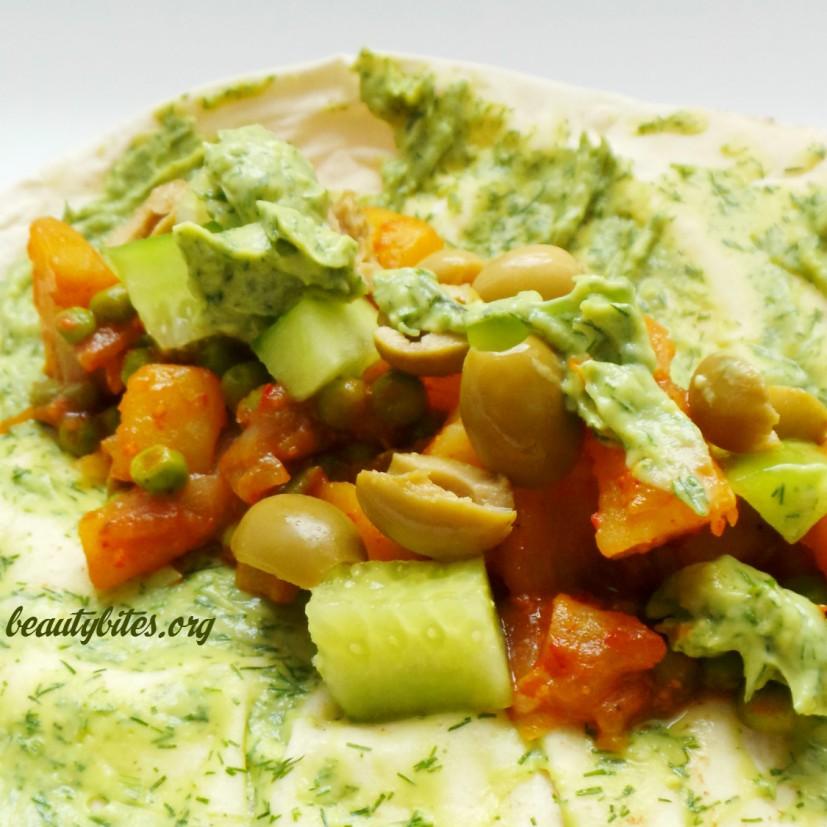 vegan potato wraps/tacos