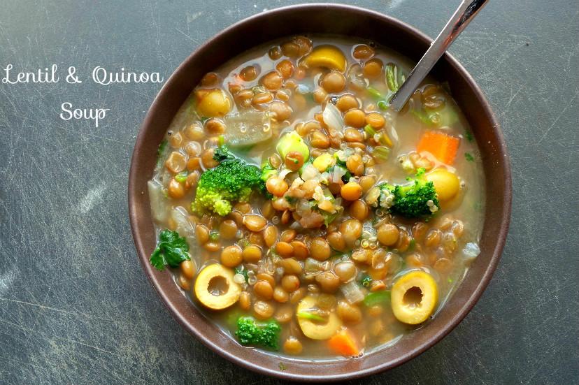 Lentil Quinoa Soup - Beauty Bites