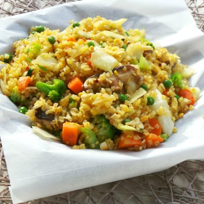 "Vegetable Fried ""Rice"" (more like Bulgur)"