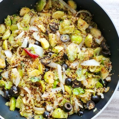 Beauty Food Recipes: Brussels Sprouts with Quinoa
