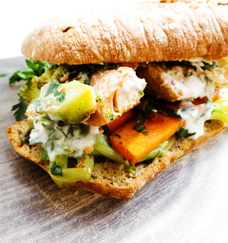 Healthy Salmon Sandwich