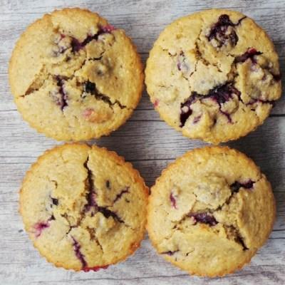 Flourless Oatmeal Blueberry Breakfast Muffins