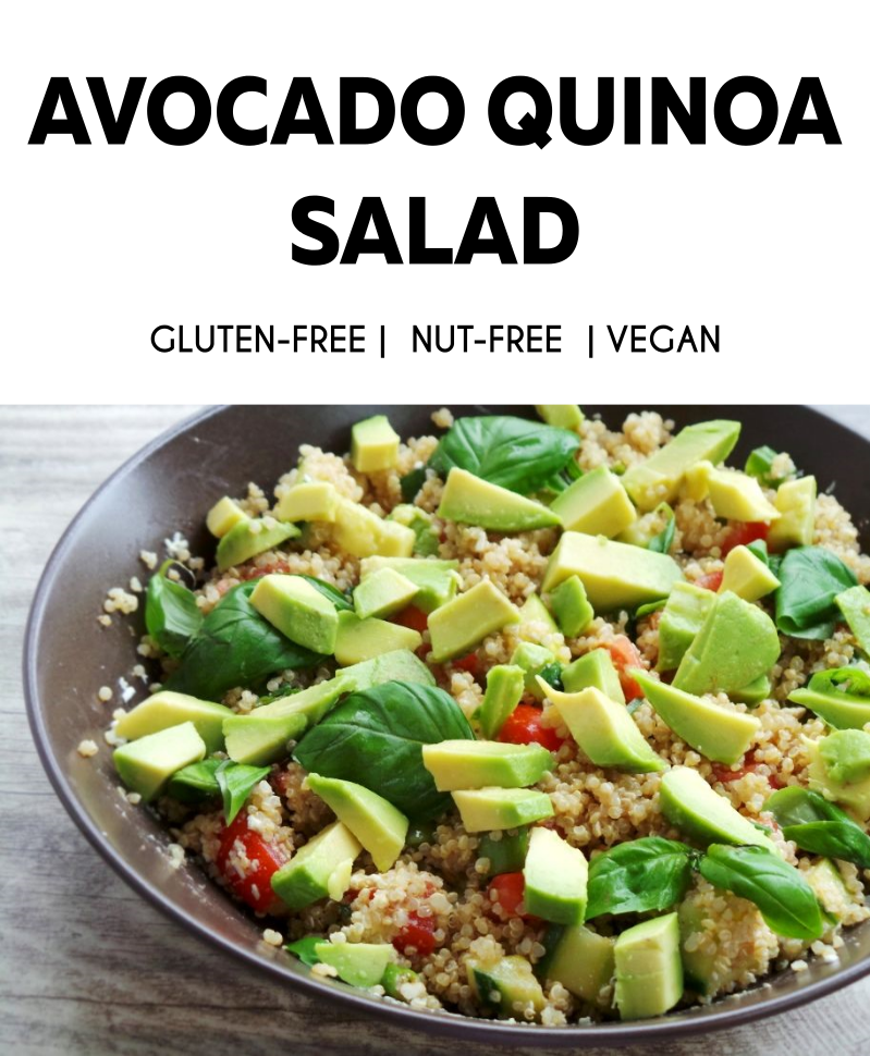 Healthy avocado quinoa salad! A great healthy summer salad that is vegan and gluten-free!