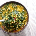 Warming Bulgur, Red Lentil And Spinach Soup