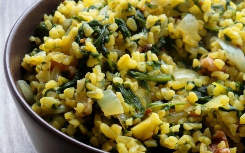 Simple Bulgur and Spinach Dinner Recipe