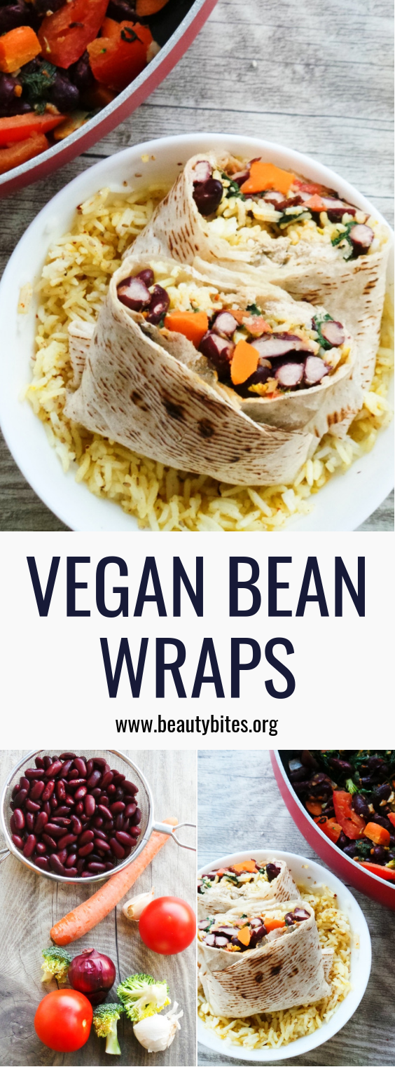 simple healthy burrito recipe - vegan, easy and very delicious. Get your vegetables in with this high-fiber recipe. Healthy Dinner Recipe | Healthy vegan wrap