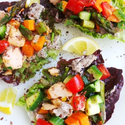 Clean Eating Salmon Lettuce Wraps