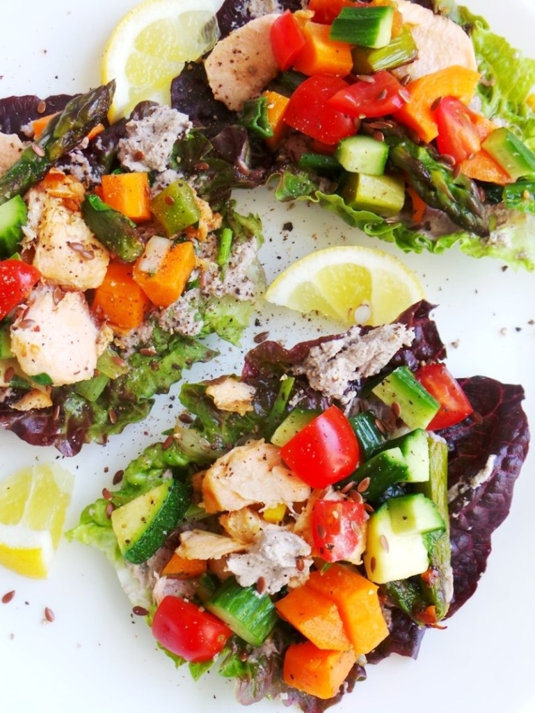 Clean eating salmon lettuce wraps beauty bites salmon lettuce wraps clean eating dinner recipe healthy anti inflammatory paleo ccuart Images