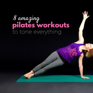 8 pilates workouts to tone everything while lying on your mat. The perfect workout to help you tone up, when you don't feel like working out. Get lean and toned with these 8 exercise videos.