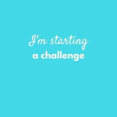 I'm starting a 30-day get healthy & fit challenge, this is why