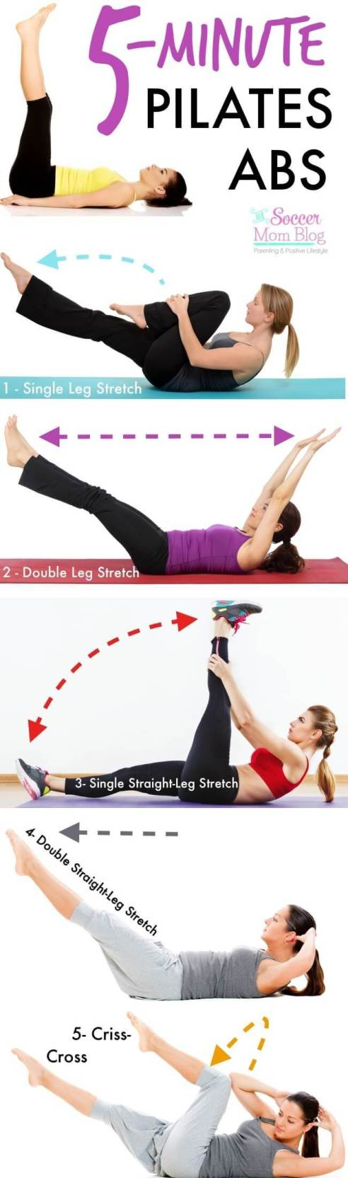 Looking for a flat tummy workout? Try these abs workouts for toned and flat belly! These quick workouts take 5 minutes of your time and you can do them daily, whenever you have the time. This amazing list includes 5-minute ab workouts for flat belly, 5-minute butt workouts, 5-minute leg workouts and inner thigh workouts and 5-minute arm workouts. Most of these exercises require almost no equipment. Some of them - just a pair of dumbbells and you can do them at home or anywhere you want. Have fun!