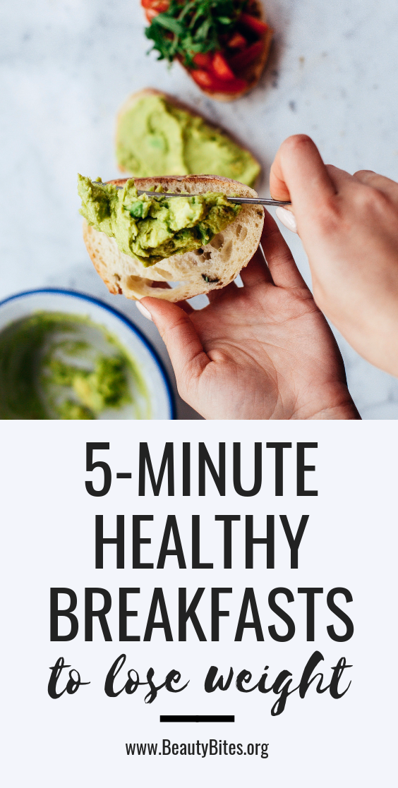 5 healthy breakfast ideas to lose weight! These delicious breakfast recipes are healthy and take only about 5 minutes to make - amazing clean eating breakfast recipes you don't want to miss!
