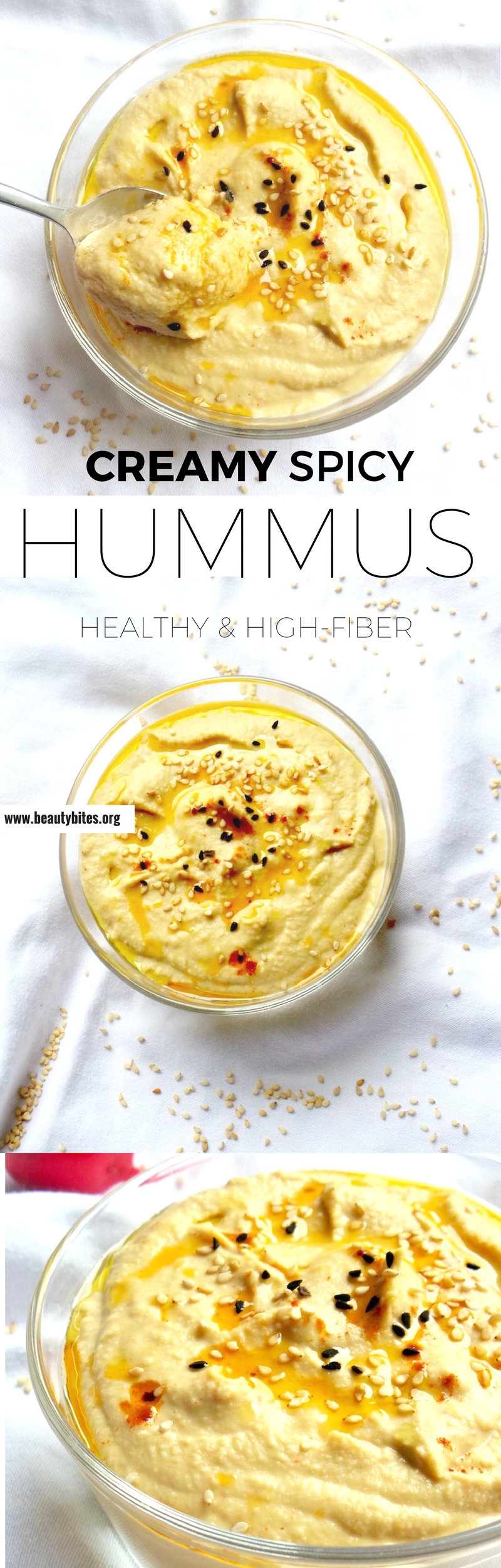Love this easy healthy hummus recipe, you can make it in 5 minutes. This is a vegan, gluten-free and high-fiber recipe #healthyrecipes