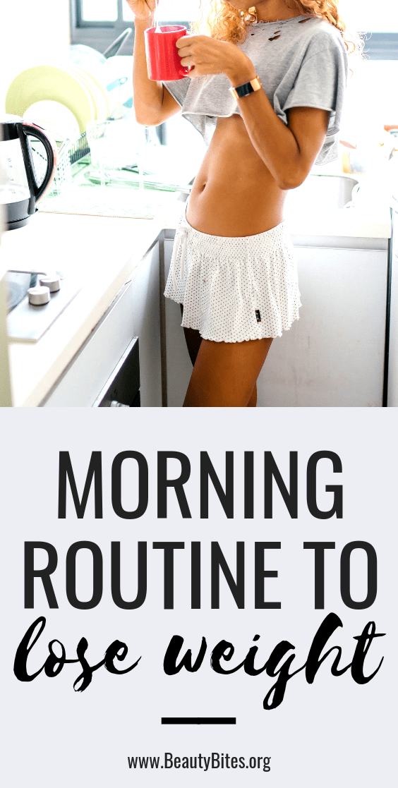 5 morning habits to include in your morning routine, so you can lose weight and feel great! These healthy habits can really make a change.