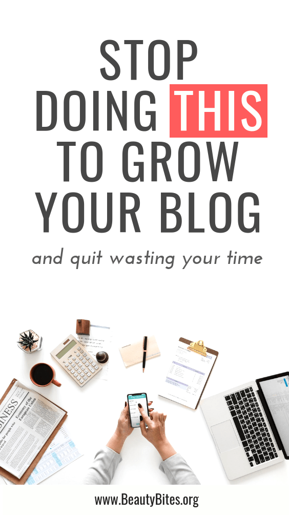 how to stop wasting your time and actually grow your blog - the one thing you need to do. Blogging tips to increase your blog traffic and make money with a blog!