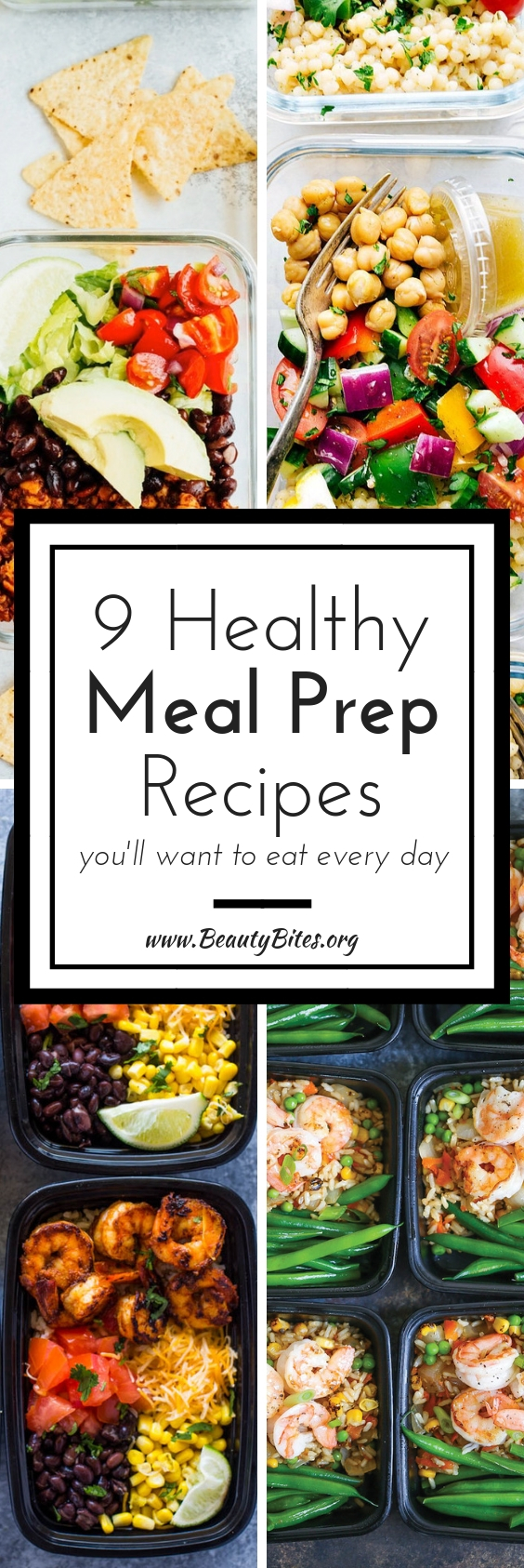 9 healthy meal prep recipes that you'll want to eat every day! These recipes don't take long and will make it easy to eat clean the whole week. | Meal Prep For The Week #mealprep