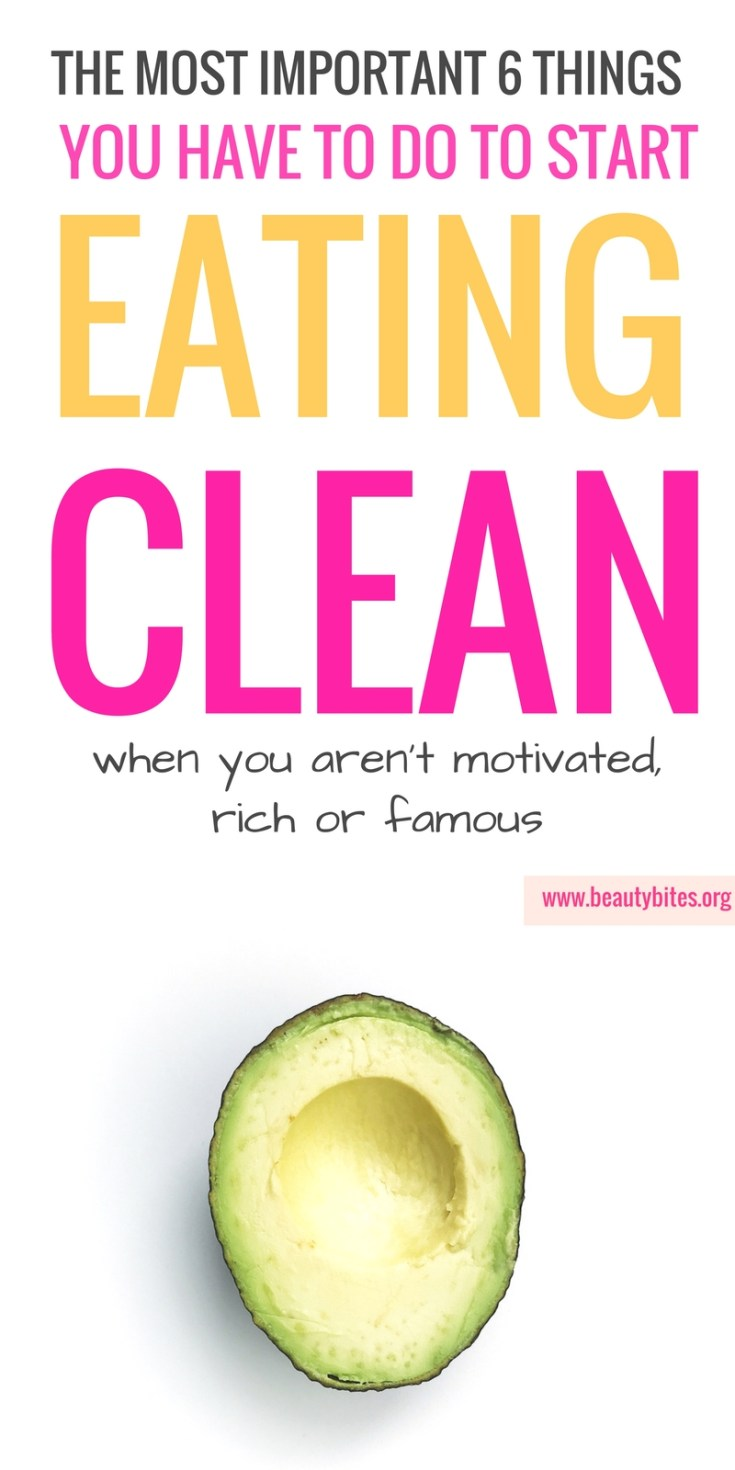 These tips are so important if you want to change your diet and start eating clean! Even if you've never eaten healthy in your life and aren't that motivated - these will help! | Clean eating for beginners | Clean eating tips #healthylifestyle #cleaneating