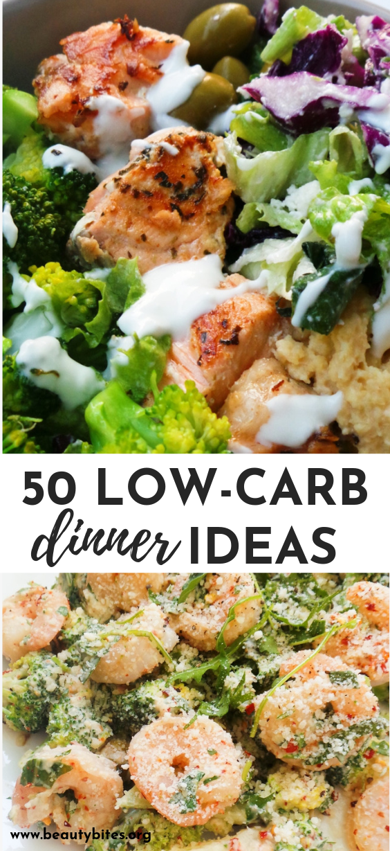 50 low-carb dinner recipes to help you lose weight! You'll love these healthy dinner ideas whether you're doing the keto diet or not!