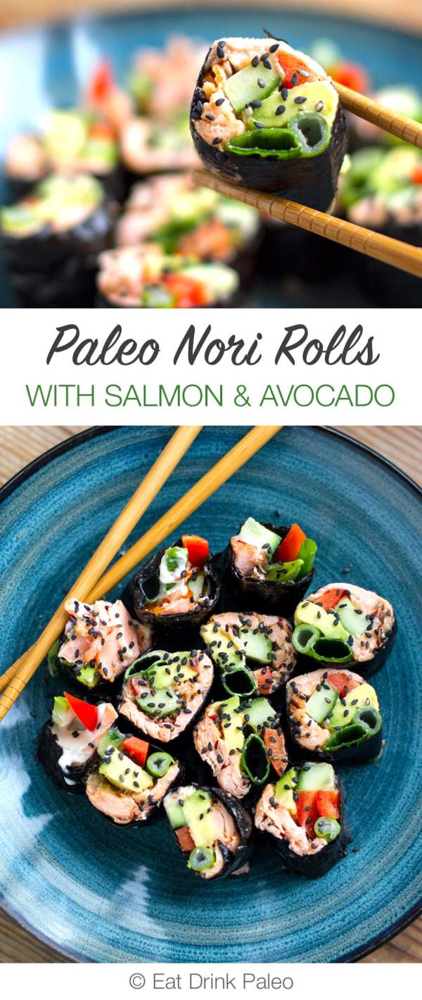 Paleo and low carb sushi recipe - delicious, healthy & takes 10 minutes