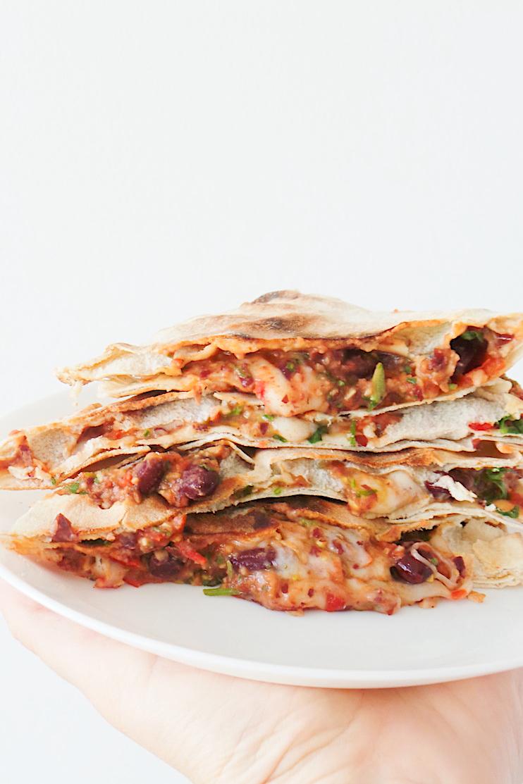 Vegetarian Quesadillas - Easy & Quick
