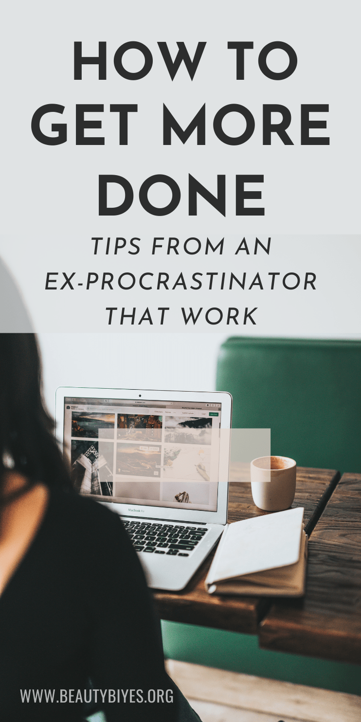 How to get more done and beat procrastination - important productivity tips from an ex-procrastinator that is now super productive, finding time for work, self-care, fitness, healthy lifestyle, hobbies, social life and fun! | #productive #productivity