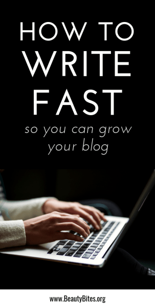 how to write fast - these are my favorite tips on writing fast. They've helped me so much with creating enough content to grow my blog. If you want to increase blog traffic and make money blogging, these tips for beginners and beyond could help you too!