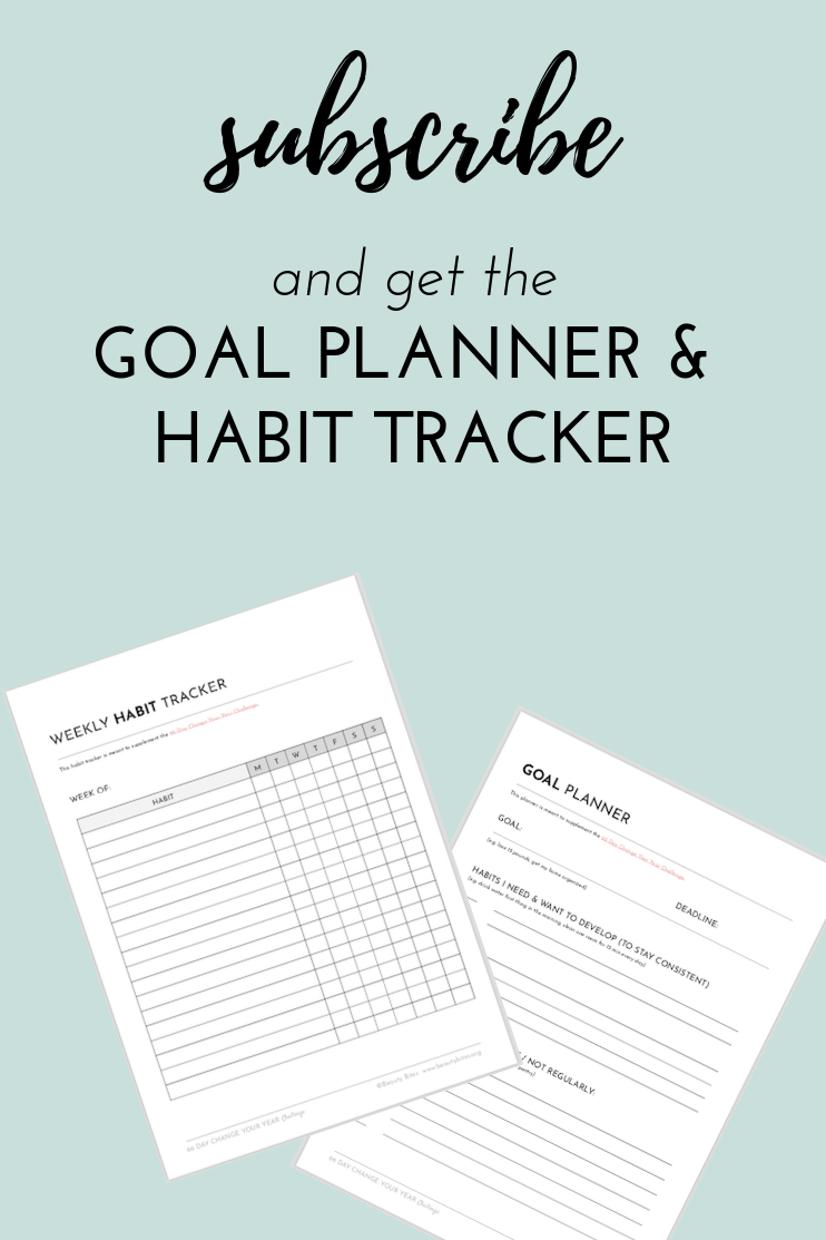 Subscribe Get MY Goal Planner And Habit Tracker