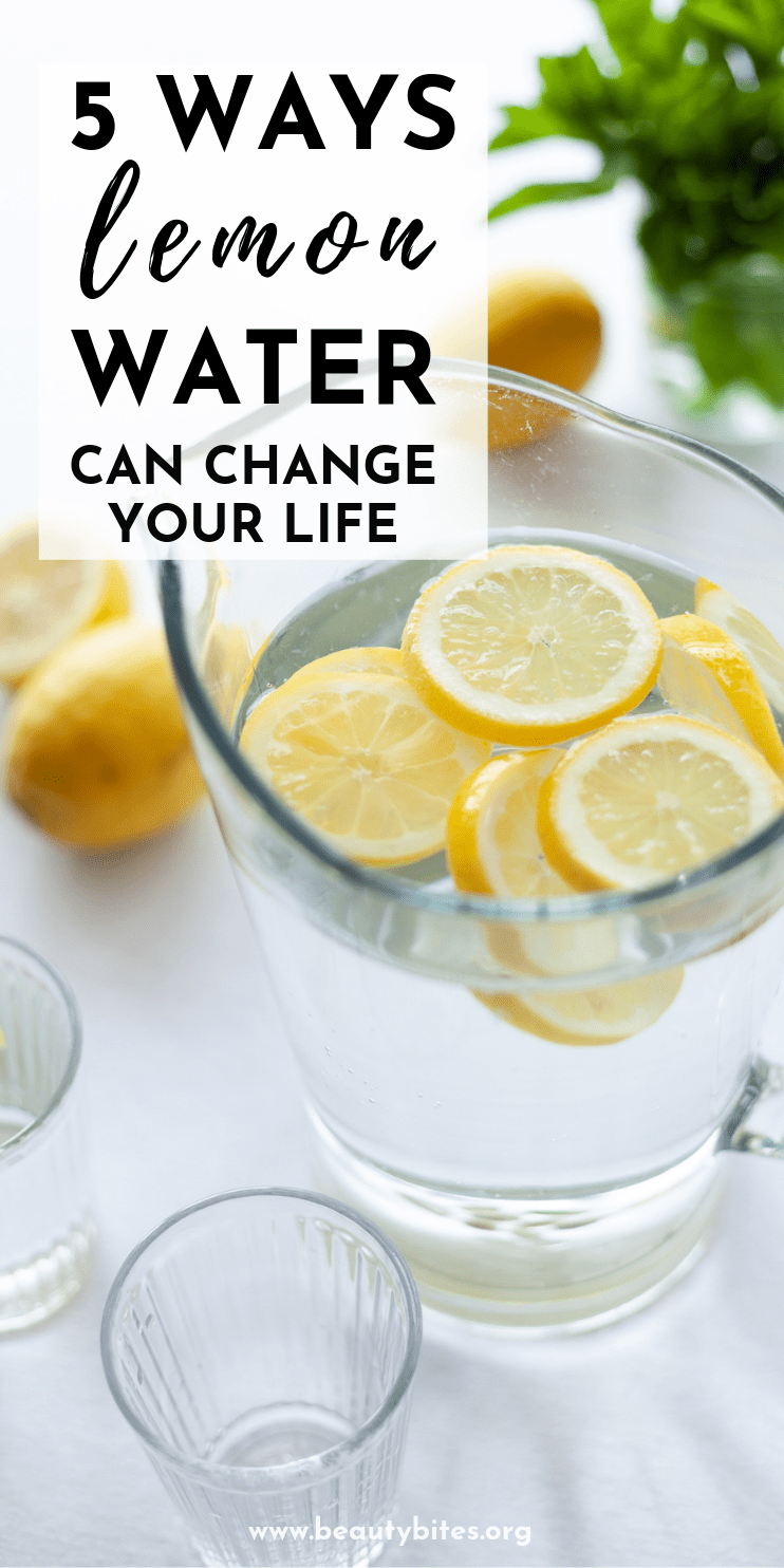Lemon water benefits and recipe! Drinking this healthy drink in the morning won't magically flush toxins out of your system, but it does have some important health benefits that you don't want to miss out on!