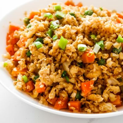 Cauliflower Fried Rice From Scratch