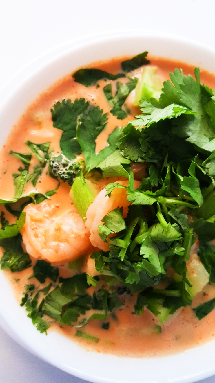 Curry Shrimp Soup - Low carb, gluten-free dairy-free.