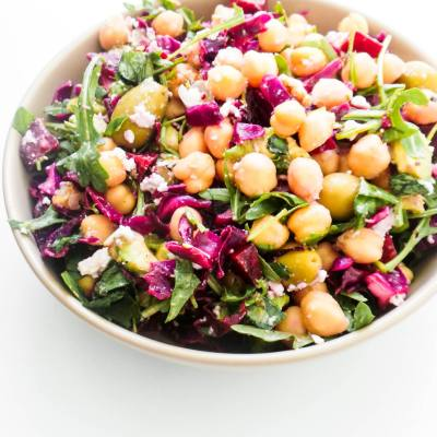 Healthy Mediterranean Chickpea Salad (Winter Salad)