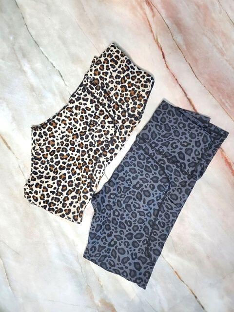 Letsfit Grey Leopard and Leopard leggings
