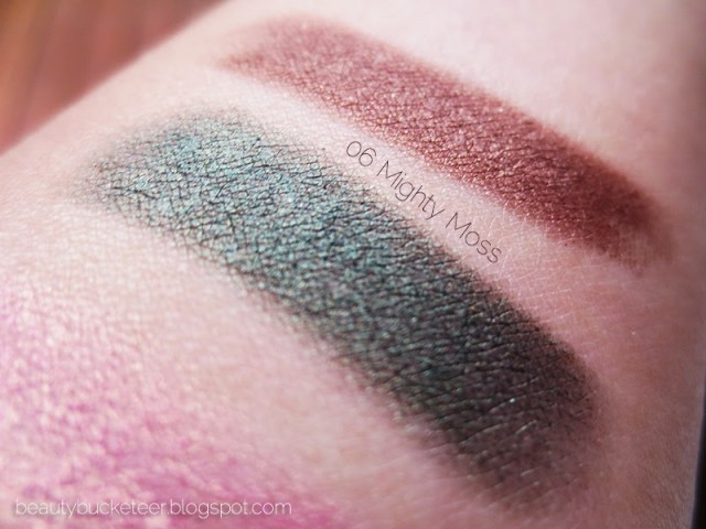 clinique chubby stick eyeshadows swatches mighty moss