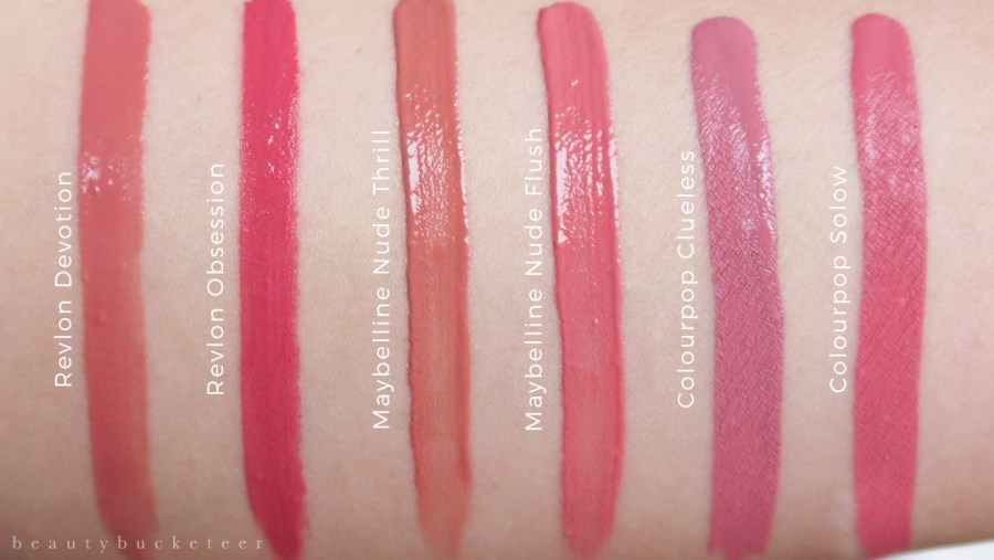Drugstore Liquid Lipsticks Swatches