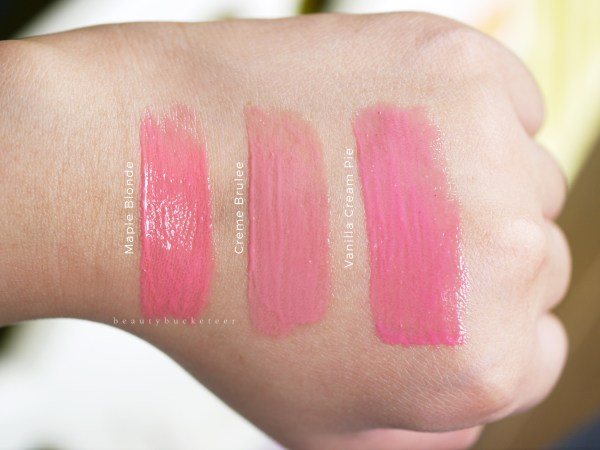 NYX Butter Glosses - Swatches (2)