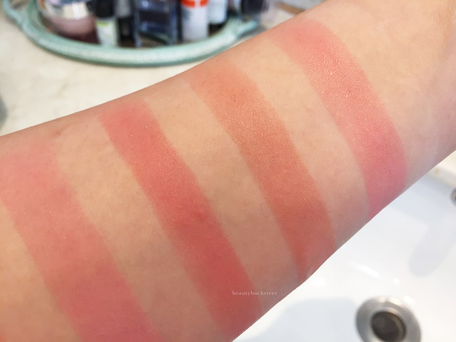 Milani Rose Powder Blushes Swatches
