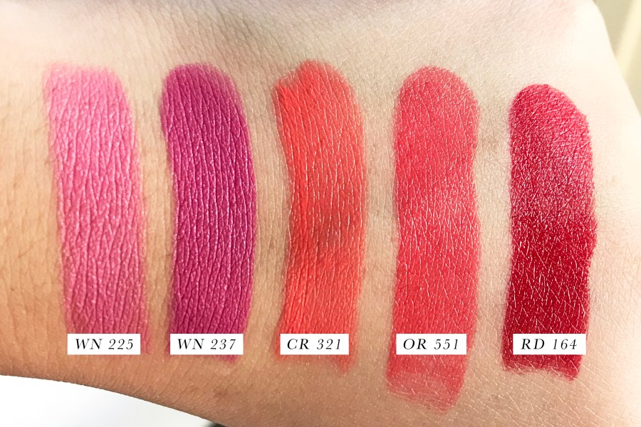 Shu Uemura Rouge Unlimited Lipstick Swatches