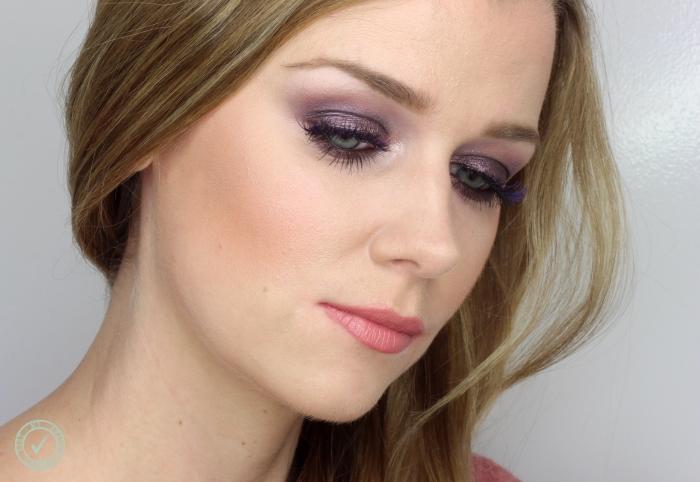 purple party makeup