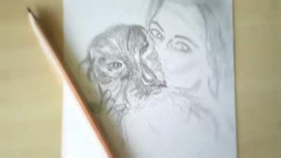 tekening Mirna Dachshund