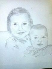 judith en lysanne tekening
