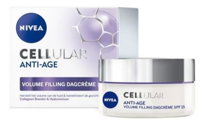 NIVEA CELLular Anti-Age Volume Filling Pearls en Dagcrème SPF15.