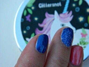 glittersnot op nagels