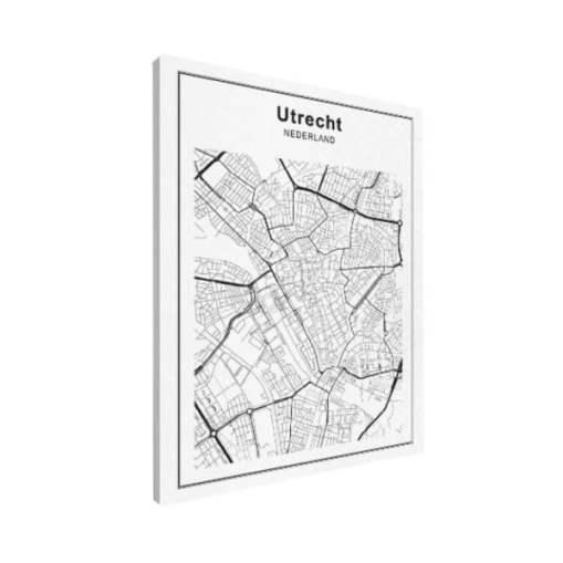 utrecht-stadskaart-zwart-wit-op-canvas